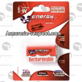 Pile 9V Energy Paintball rechargeable