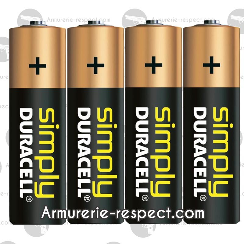 lot de 4 piles alcaline lr6 aa duracell armurerie respect the target sarl. Black Bedroom Furniture Sets. Home Design Ideas