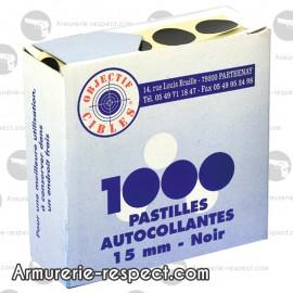 RONDELLES AUTOCOLLANTES NOIRES DIAM.15 MM
