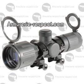 Lunette SWISS ARMS 3-9 X 40 compacte caoutchouc reti lumi + 2 X 2 collier