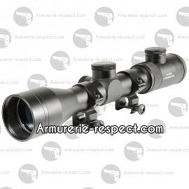 Lunette SWISS ARMS 1,5-6 X 42 reticule lumineux grave + 2 paires de collier