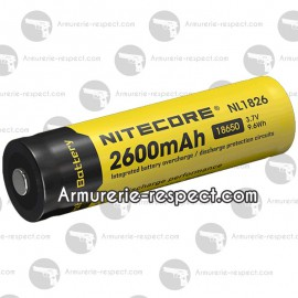 Accu Li-ion 18650 Nitecore en 2600 mAh