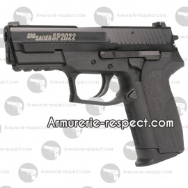 SIG SAUER SP2022 Co2 Culasse metal 6mm 15BBs Energie 0,9 J. Maxi
