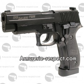 SIG SAUER P226 E2 Co2 metal 6mm culasse mobile 24 billes Energie 0,9 J. Max