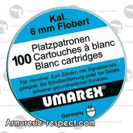 CARTOUCHES 6 mm  A BLANC