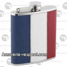 Flasque drapeau français tricolore 180 ml