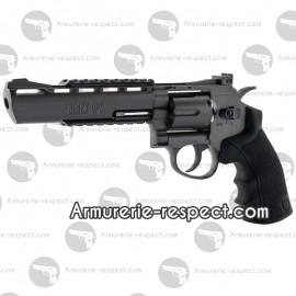 """Revolver Black Ops 6"""" noir à billes d'acier 4.5 mm full métal"""