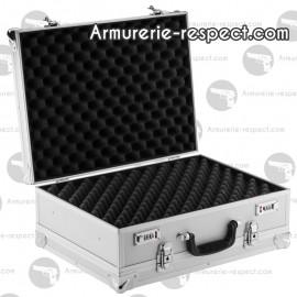 Mallette aluminium double ouverture 52x39x21 cm