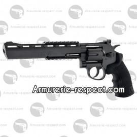 """Revolver Black Ops 8"""" noir à billes d'acier 4.5 mm full métal [en rupture]"""
