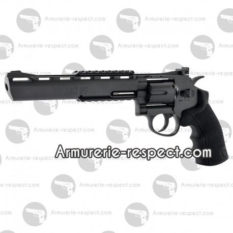 """Revolver Black Ops 8"""" noir à billes d'acier 4.5 mm full métal"""