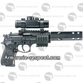 Pistolet Beretta XX-treme à plombs avec silencieux et point rouge