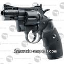 """Colt Python 2.5"""" noir à plombs et billes d'acier 4.5 mm"""
