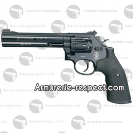Smith & Wesson 586 noir 6 pouces revolver à plombs