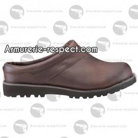 Sabotins Aigle guiren cuir marron Taille 43