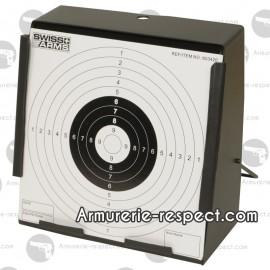 Cible en métal carrée pour les armes à plombs et certaines répliques airsoft