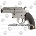 Pistolet de défense Gom Cogne GC27 argenté calibre 12/50