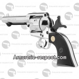 Single Action chromé Peacemaker 1873 revolver à blanc 9 mm