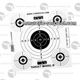 Cible papier (x50) pour Cible filet 603404