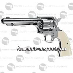 Colt Single Action Army 45 nickel à plombs 4.5 mm