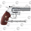 """Colt Python nickel 4"""" revolver à billes d'acier tout métal"""