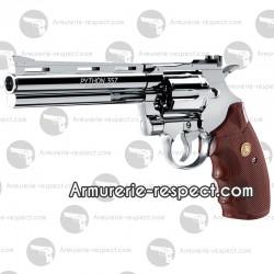 """Colt Python nickel 6"""" revolver à billes d'acier tout métal [en rupture]"""
