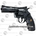 """Colt Python noir 4"""" revolver à billes d'acier tout métal [en rupture]"""