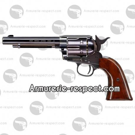 Pistolet Colt simple action Army 45 bleu full Pistolet Colt simple action Army 45 leu Full