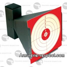 Porte cible en métal forme conique 14x14 cm