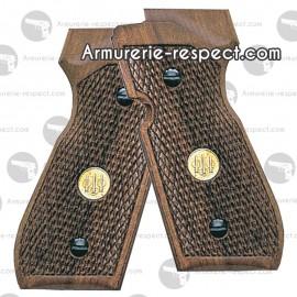 Lot de deux plaquettes de bois pour pistolet à plombs Beretta 92