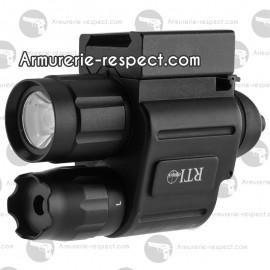 Lampe et laser