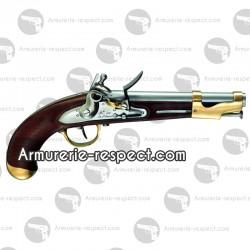 Davide Pedersoli pistolet an IX à silex cal 17. 5 mm à poudre noire
