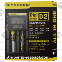 Chargeur intelligent pour 2 batteries Nitecore Digicharger 2