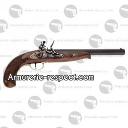 Pistolet à poudre noire continental duelling à silex cal 44 Davide Pedersoli