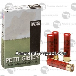 FOB TRADITION PETITES MUNITIONS - CALIBRES 12mm, 14 mm, 410 PETIT GIBIER 12 MM