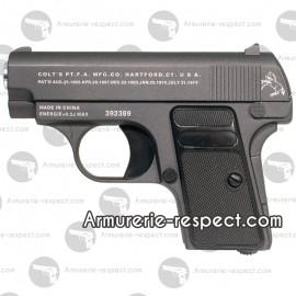 Colt 25 tout métal réplique airsoft spring noire