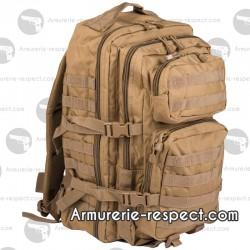 Grand sac à dos US coyote 36 litres avec de nombreuses poches