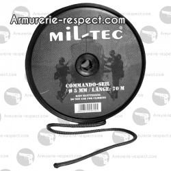 Corde noire 9 mm longueur 30 m
