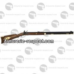 Fusil à poudre noire Davide Pedersoli Traditional Hawken target à silex cal 50