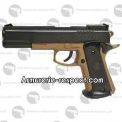 Colt MK IV couleurs tan et noir réplique airsoft manuelle