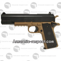 Colt 1911 tan et noir version lourde airsoft spring