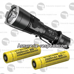 Nitecore lampe MH27UV + 2 accus 18650 (3500 mAh)