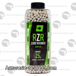 3300 billes RZR blanches 0.25g Nuprol
