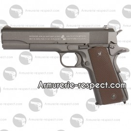 COLT M1911 Co2 BAX metal 6mm culasse mobile 17 billes Energie 1,1 J. Max