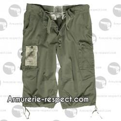 Pantalon 3/4 air combat vert délavé du XS au XXXL