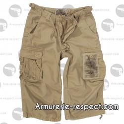 Pantalon 3/4 air combat kaki délavé du XS au XXL