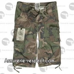 Pantalon 3/4 air combat woodland délavé du XS au XXL
