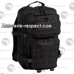 Grand sac à dos militaire noir 36 litres