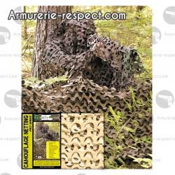 Filet de camouflage Crazy 2.4x6 mètres desert