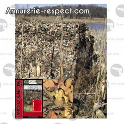 Filet de camouflage feuillage végétal 3x3 mètres