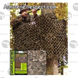 Filet de camouflage basique militaire 3x3 mètres woodland